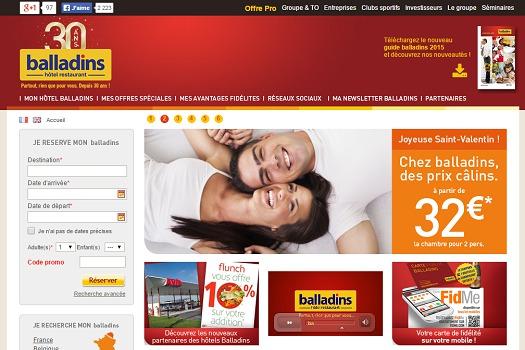 Balladins continue d'élargir son réseau en 2015 - Capture d'écran