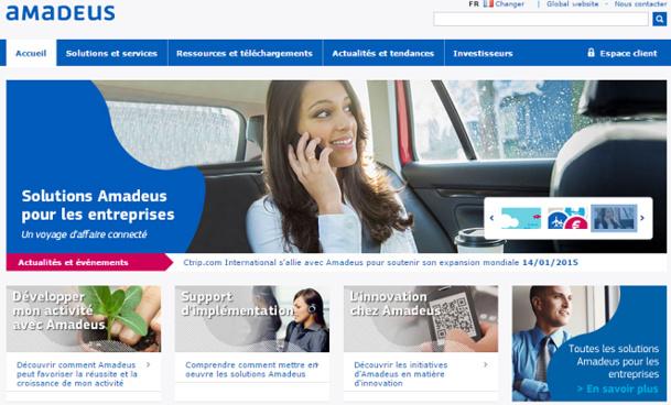 Amadeus développe des solutions pour améliorer les voyages d'affaires - Capture d'écran