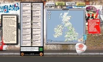 Angleterre : 113 hauts lieux du rock réunis dans une carte