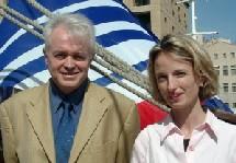 Claire Pitois & Michel Hofer, lors de la ''passation de pouvoirs''