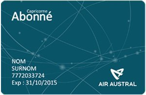 Air Austral : -65% sur le tarif de la carte d'abonnement