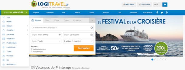 Logitravel.fr est l'agence de voyages en ligne du groupe Logitravel en France - Capture d'écran