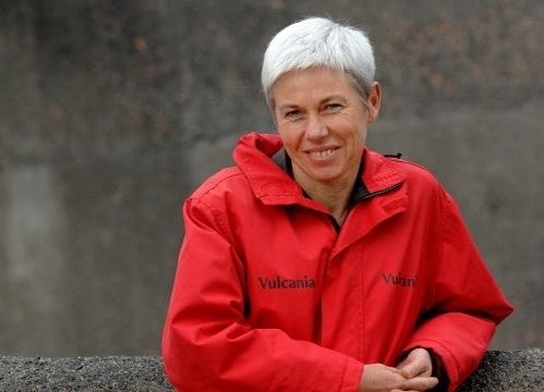 Catherine Damesin, diplômée de HEC, a pris la direction du parc en 2007 alors qu'il était au creux de la vague. En 2014, Vulcania a accueilli 330 000 visiteurs - DR : C. Camus