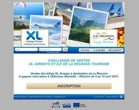 Un mini-site a spécialement été mis en ligne pour ce challenge de ventes - Capture d'écran