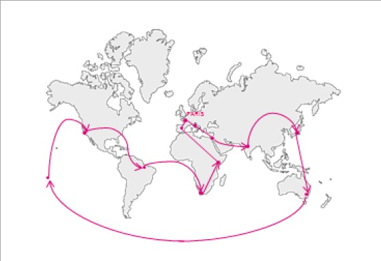 Le Tour du Monde sur-mesure de Printemps Voyages s'effectue en 12 étapes - DR : Printemps Voyages