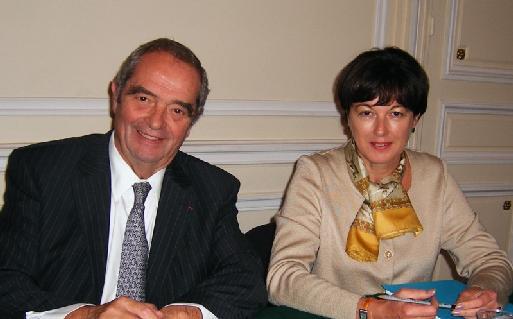 Georges Colson et Christine Baal, première femme vice présidente de l'histoire du SNAV (cliquer pour agrandir)