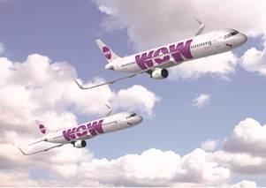 Les deux nouveaux A321 de WOW air voleront vers les USA - DR : WOW air