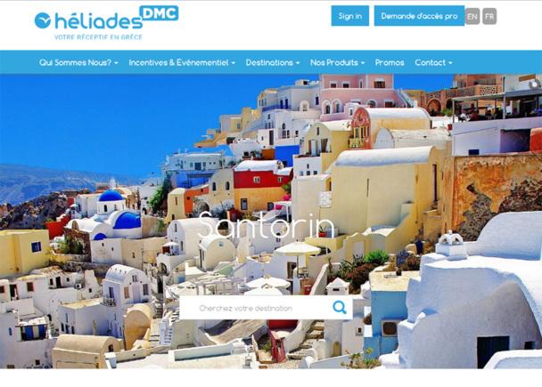 Le site web dédié aux groupes d'Héliades DMC  - Capture écran