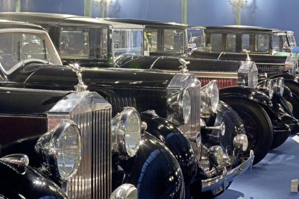 Des Rolls alignées comme à la parade - DR : Cité de l'Automobile - Collection Schlumpf