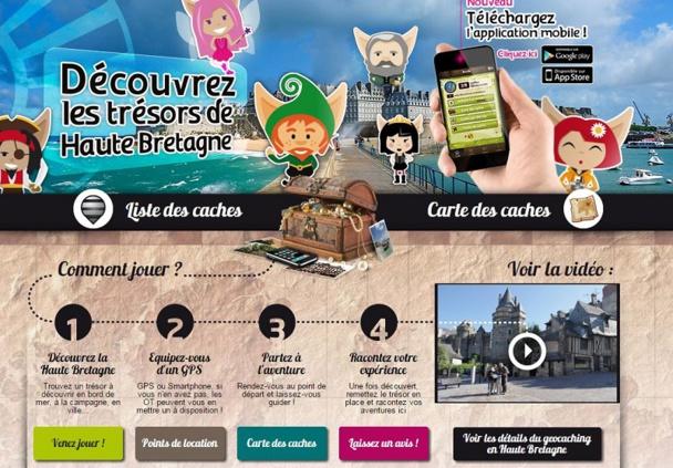 Le Comité Départemental du Tourisme Haute Bretagne Ille-et-Vilaine est l'un des pionniers en matière de développement du geocaching en France. (c) CDT Haute-Bretagne