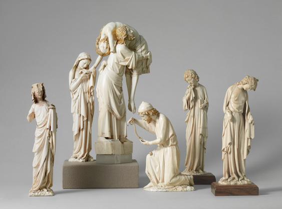 La Descente de croix, Paris, vers 1270-1280, ivoire, polychromie, Paris, Musée du Louvre, © Musée du Louvre, Dist. RMN-GP / Martine Beck-Coppola