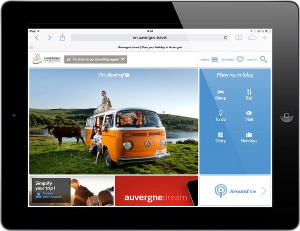 L'initiative du CRDT Auvergne illustre parfaitement les avantages de la mise en commun des outils numériques - DR : Capture d'écran CRDT Auvergne
