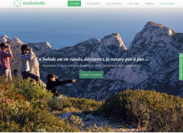 Grâce à EcoBalade, il est possible de créer un parcours centré autour de la nature et de l'écosystème de votre région ou de votre territoire. DR Capture d'écran