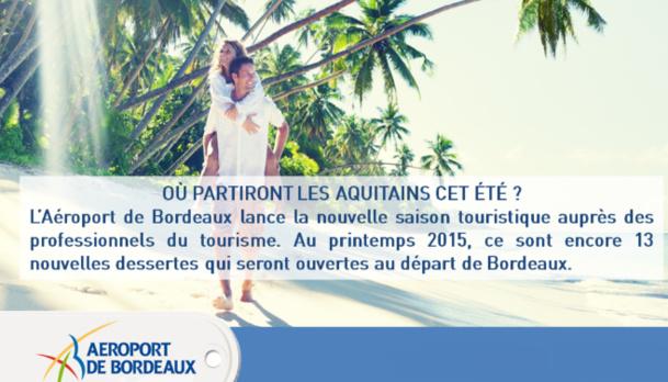 L'Aéroport de Bordeaux réunit 15 compagnies aériennes pur un workshop mardi 3 mars 2015 - DR