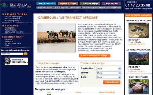 Escursia. fr, le site du voyagiste