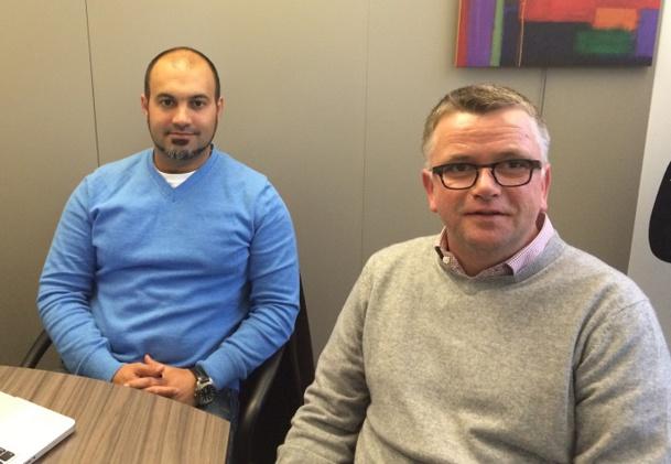 Hichame Assi, directeur des opérations d'HotelsCombined, et Mikael Quilfen, directeur Europe de l'Ouest du site comparateur d'hôtels (c)HotelsCombined