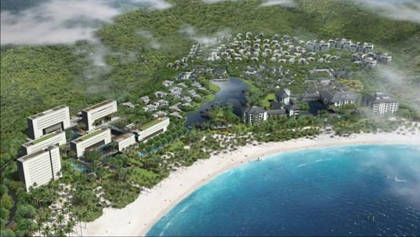 """le Park Hyatt Sanya Sunny Bay Resort est situé sur l'île de Hainan considéré comme le """"Hawaï de la Chine"""" - DR : Hyatt Hotels and Resorts"""