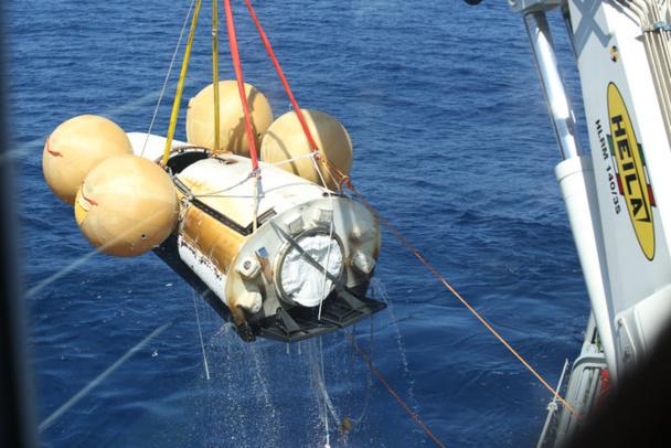 Le vol d'IXV n'aura pas été long : 100 minutes pour un peu plus de 32.000 km. La phase de descente était le moment le plus délicat, car la vitesse avoisinait alors les 27 000 km/h et il s'agissait de rentrer dans l'atmosphère sans encombre - Copyright ESA–Tommaso Javidi, 2015