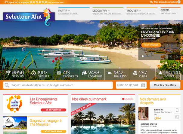 Le package dynamique est le moteur de croissance du réseau Selectour Afat - DR : Capture d'écran Selectour Afat