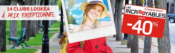 Les réductions, jusqu'à 40%, sont valables sur une sélection de séjours de 7 ou 14 nuits en Club Lookéa - DR : Look Voyages