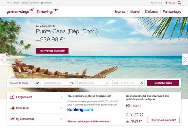 Les billets sont en vente dès ce jour, depuis Cologne, vers les Caraïbes (Varadero et Punta Cana), Dubaï et la Thaïlande - DR : Capture d'écran Eurowings