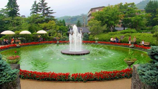 """Dans ce jardin """"à la française"""", dont la fontaine monumentale constitue l'une des principales attractions / photo JDL"""