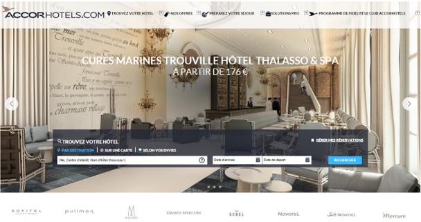 La solution digitale d'Accor pour les groupes dédiée aux professionnels est accessible depuis le site Internet AccorHotels.com - Capture d'écran