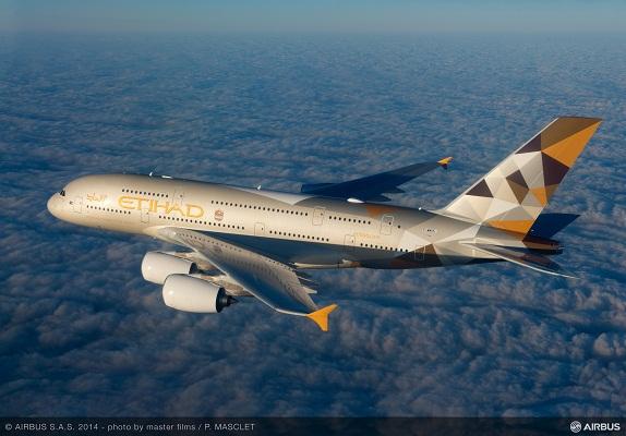 l'A380 d'Etihad Airways voloe déjà vers Abu Dhabi au départ de Londres et bientôt de Sydney également - DR : Airbus S.A.S