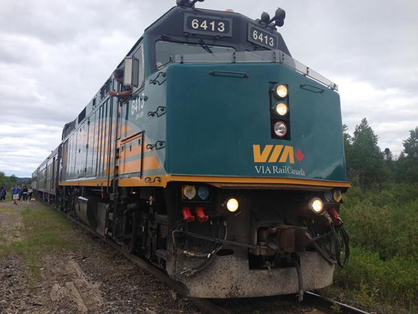 """Le """"cheval de fer des grands espaces"""" est un moyen de rencontrer les Québécois et découvrir la géographie du nord Québec - DR : Via Rail Canada"""
