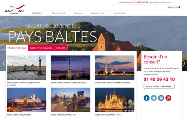 La page d'accueil du site dédié aux groupes d'Amslav - Capture écran