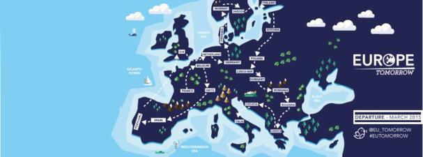 L'itinéraire du périple d'Europe Tomorrow - DR