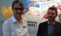 Céline Fradet, chef d'agence et David Chauvet, directeur régional - Photo J-P Combe