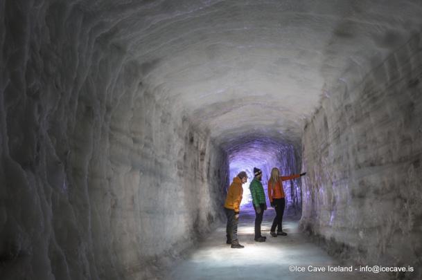 Le tunnel de glace sera ouvert au public dès la fin mai 2015 - DR