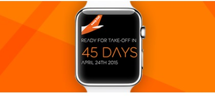 L'Apple Watch sera disponible le 24 avril 2015 - DR : easyJet