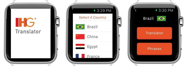 IHG proposera son application Translator gratuitement sur l'Apple Watch - DR : IHG