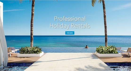 Professional Holiday Rentals est une plateforme de location de vacances dédiée aux professionnels - Capture d'écran