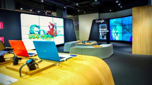 Le corner permet de rentrer en interaction avec des Google experts. ©Google