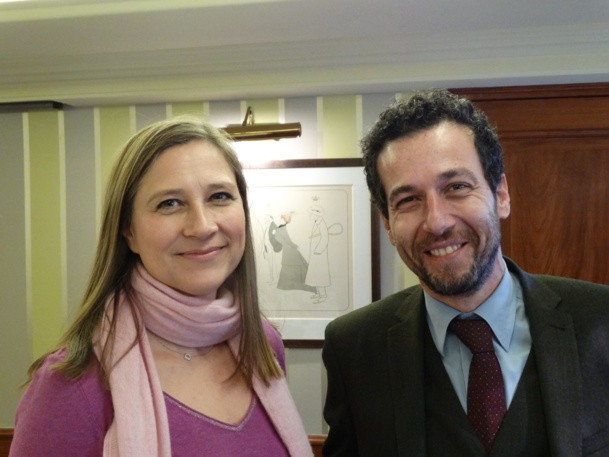 Miranda Ford, Marketing Director, and Erminio Eschena, General Director of France and Bénelux at MSC Croisières - Photo JBH