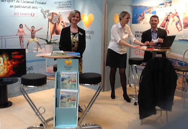 The Thomas Cook pop-up store in Clermont-Ferrand - Photo J-P. Combe