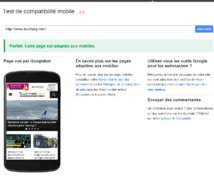 Google has put online a tool to test your website and a guide to optimize it - DR: Screenshot Google
