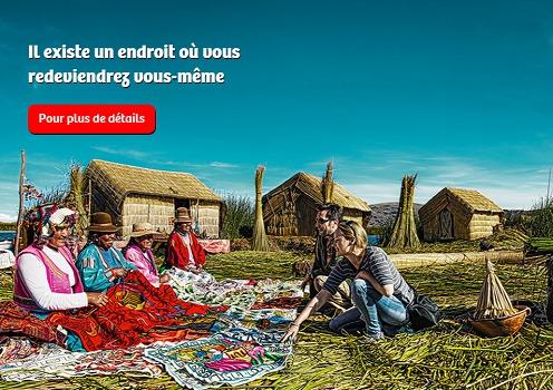"""Communication : le Pérou invite les touristes à venir se """"retrouver"""" dans le pays"""