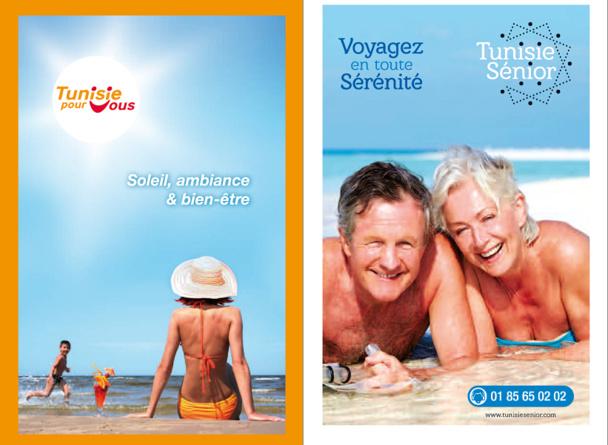 Couvertures des brochures Tunisie Pour Vous et Tunisie Senior - DR : Tuniself