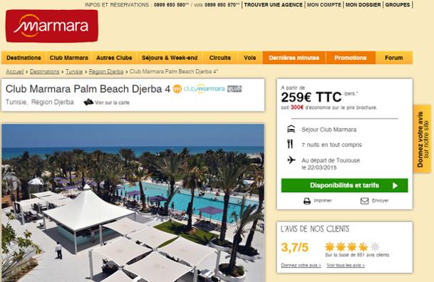 Les clients de Marmara présents à Djerba ne peuvent plus faire d'excursions - Capture d'écran