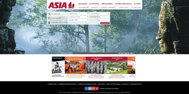 Le site d'Asia avait 10 ans. Pour sa refonte : nouvelles fonctionnalités pour un nouveau design. DR Capture d'écran Asia