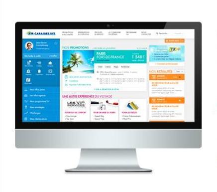 Le nouveau site pro d'Air Caraïbes est plus clair et plus simple d'utilisation - DR : Air Caraïbes