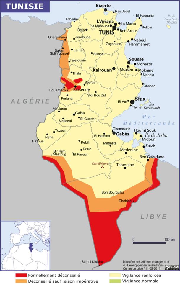"""Tunisie : le Quai d'Orsay recommande d'être """"particulièrement vigilants"""""""