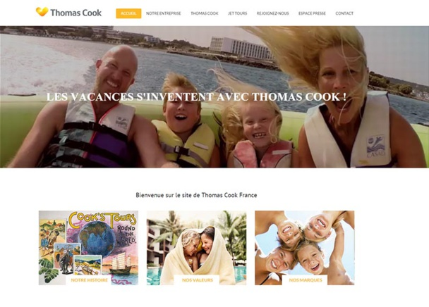 Thomas Cook France : le site corporate fait peau neuve