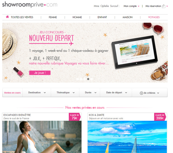 Concerning its travel section, Showroomprivé is aiming its strategy in three points: facilitate access with mobile devices, simplify the access of TOs to the back office, and retain clients to increase sales on the overall website. -  DR : Showroomprivé