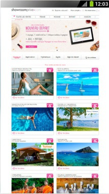 """""""A new start,"""" the campaign of Showroomprivé to put the sales of travels at the heart of their marketing strategy - Screen Shot"""