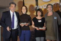 Meilleures vendeuses Costa Croisières : Marie Lefèvre  (Dieppe) pour les agences et Maëlis Maire pour les centres d'appels ont été récompensées par la compagnie - Photo CE